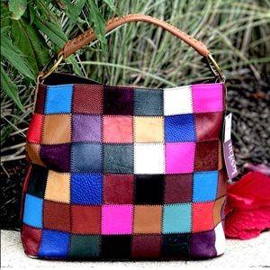 Just In NWT Kooba Boho Hobo Patchwork Leather Bag